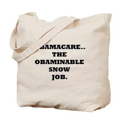 Obaminable Snow Job Tote Bag