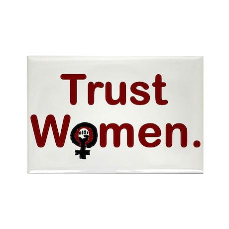 TRUST WOMEN, Fridge Magnet