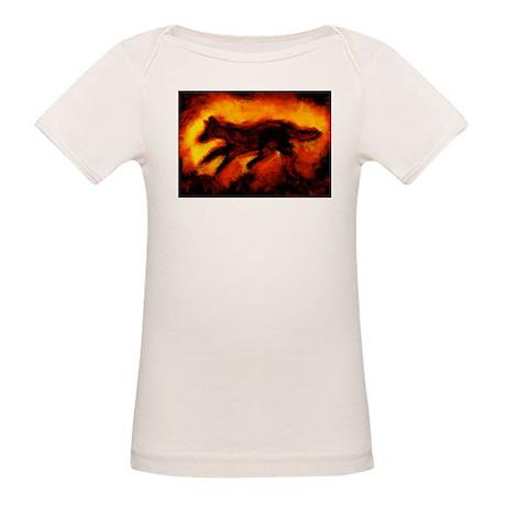 Fire Wolf Organic Baby T-Shirt