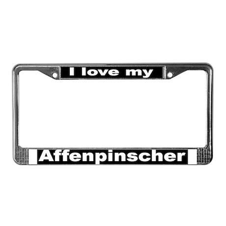 """""""Affenpinscher"""" License Plate Frame"""