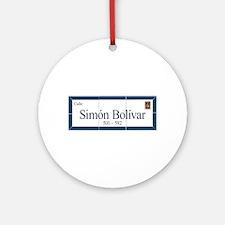 Simon Bolivar Street, Sucre, Bolivia Ornament (Rou