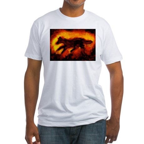 Fire Wolf Fitted T-Shirt