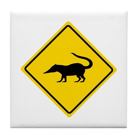 Coatimundi Crossing, Guatemala Tile Coaster