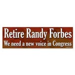 Retire Randy Forbes bumper sticker