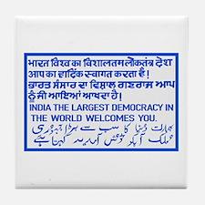 The Largest Democracy, India Tile Coaster