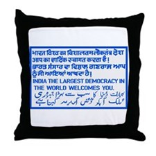 The Largest Democracy, India Throw Pillow
