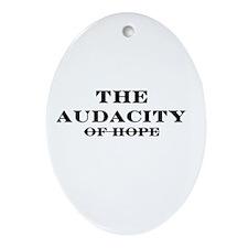 The Audacity Oval Ornament