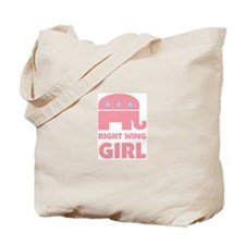 Right Wing Girl Tote Bag