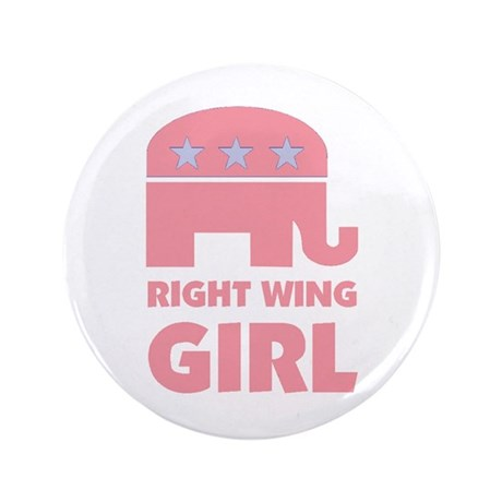 """Right Wing Girl 3.5"""" Button (100 pack)"""