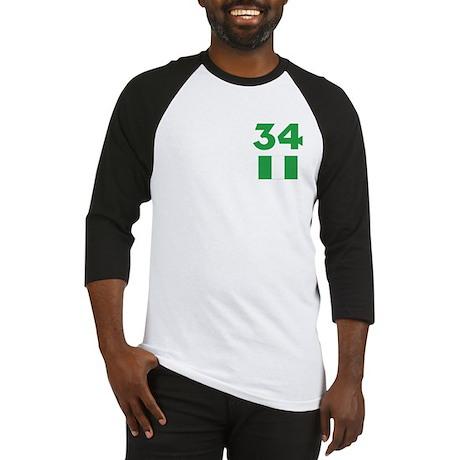 Team Nigeria - #34 Baseball Jersey