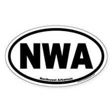NWA Northwest Arkansas Euro Oval Decal