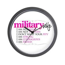 I Am A Military Wife Wall Clock