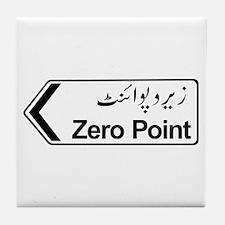 Zero Point, Islamabad, Pakistan Tile Coaster