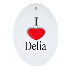 Delia Oval Ornament