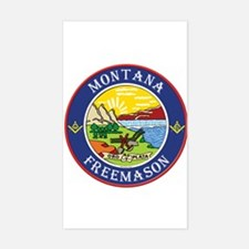 Montana Masons Rectangle Decal