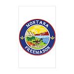 Montana Masons Rectangle Sticker