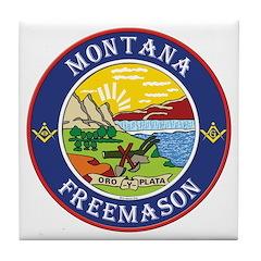 Montana Masons Tile Coaster