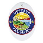 Montana Masons Oval Ornament