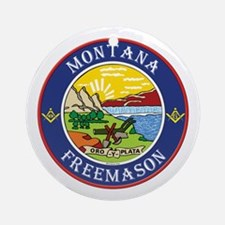 Montana Masons Ornament (Round)