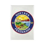Montana Masons Rectangle Magnet (10 pack)