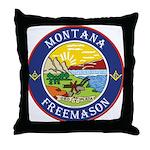 Montana Masons Throw Pillow