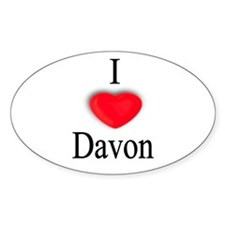 Davon Oval Decal