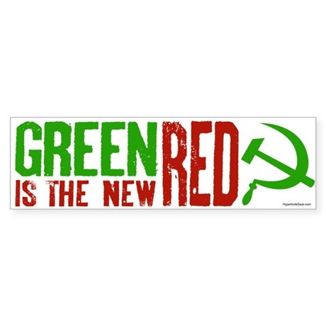 Green is the New Red, big Hammer & Sickle Sticker
