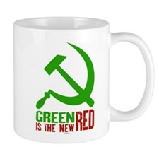Green is the New Red, big Hammer & Sickle Mug