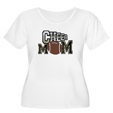 Cheer Mom (football) Women's Plus Size Scoop Neck