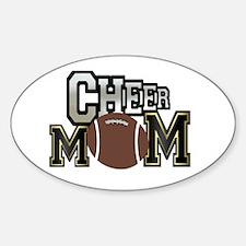 Cheer Mom (football) Oval Decal