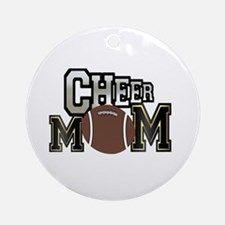 Cheer Mom (football) Ornament (Round)