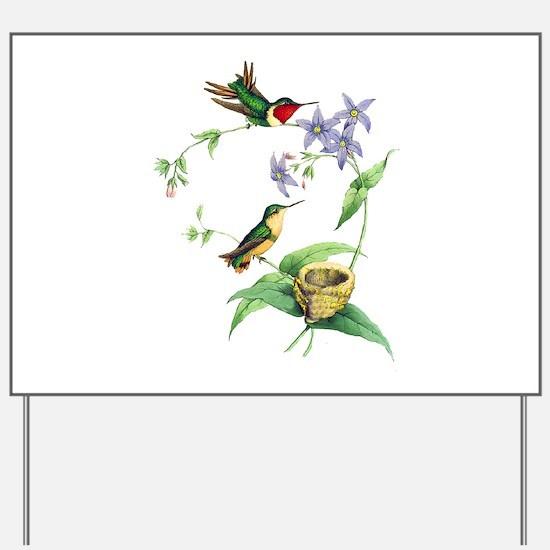 Hummingbirds Yard Sign