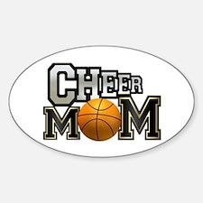 Cheer Mom (basketball) Oval Decal