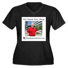 Cute Store Women's Plus Size V-Neck Dark T-Shirt