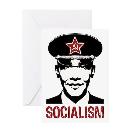 Obama Socialism Greeting Card