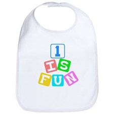 1 Is Fun First Birthday Bib