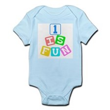 1 Is Fun First Birthday Infant Creeper