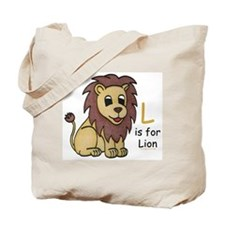 L is for Lion Tote Bag