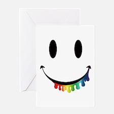 Smiley Juicy Rainbow Greeting Card