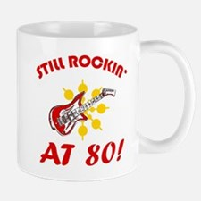 Rockin' 80th Birthday Mug