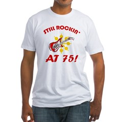 Rockin' 75th Birthday Fitted T-Shirt