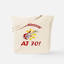 Rockin' 70th Birthday Tote Bag