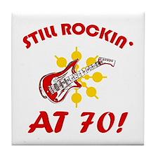 Rockin' 70th Birthday Tile Coaster