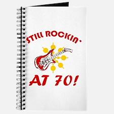 Rockin' 70th Birthday Journal