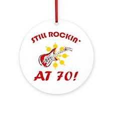 Rockin' 70th Birthday Ornament (Round)