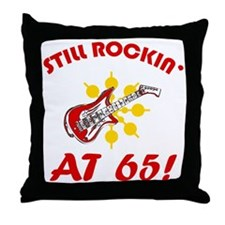 Rockin' 65th Birthday Throw Pillow