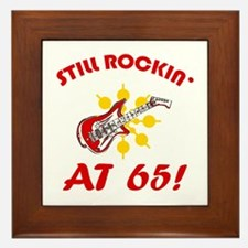 Rockin' 65th Birthday Framed Tile