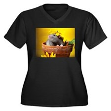 Aimee's rats nest Women's Plus Size V-Neck Dark T-