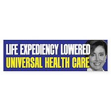 Universal Health Care Bumper Bumper Sticker