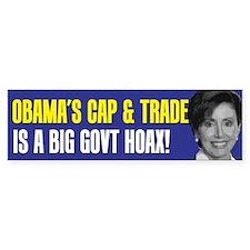 Obama's Cap and Trade Bumper Bumper Sticker